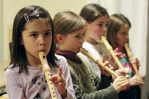 Flötenspiel in der Unterstufe